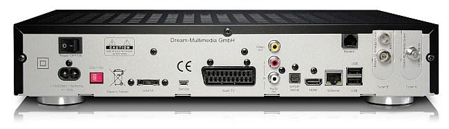 Dreambox DM 7020 HD - tilslutninger