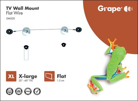 Grape GM320 wire ophæng til fladskærm