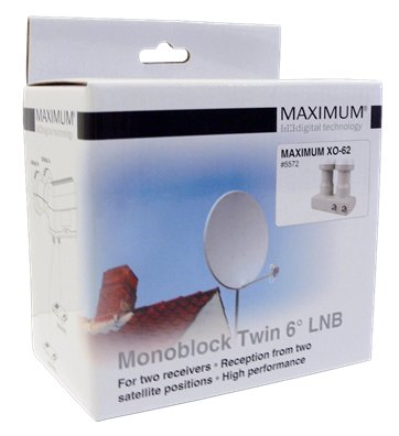 MAXIMUM XO-62 MONOBLOCK TWIN LNB 6 GRADER