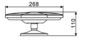 MDA 100 Antenne til campingvogn - dimension