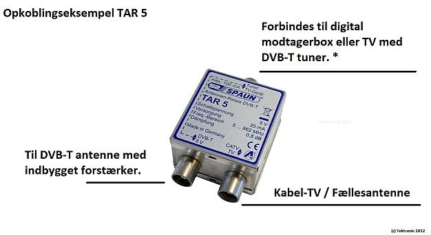 Spaun TAR 5 opkobling